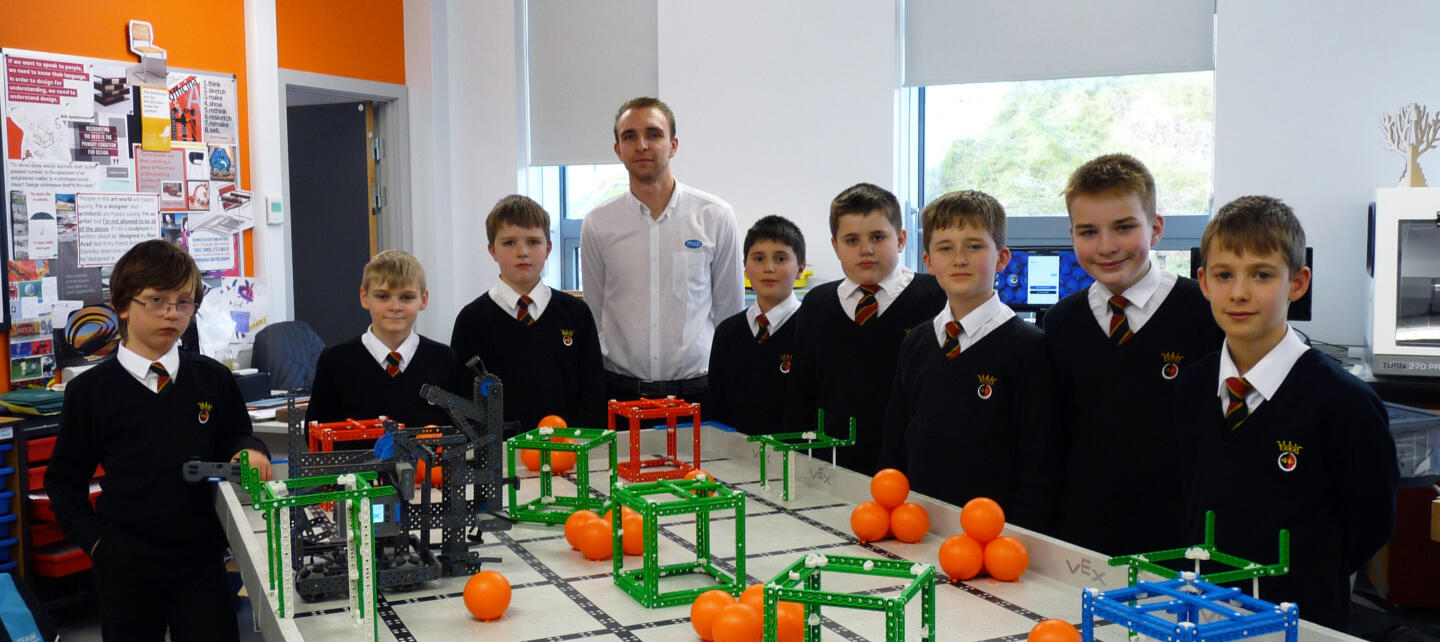 The MSP-sponsored team with Jack Lloyd, a Graduate Software Engineer at MSP.