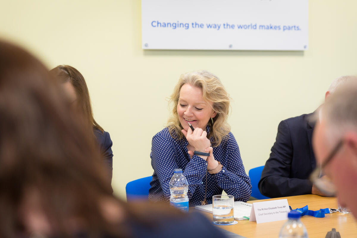 After a tour of MSP, Liz Truss MP, chaired a roundtable discussion on public spending