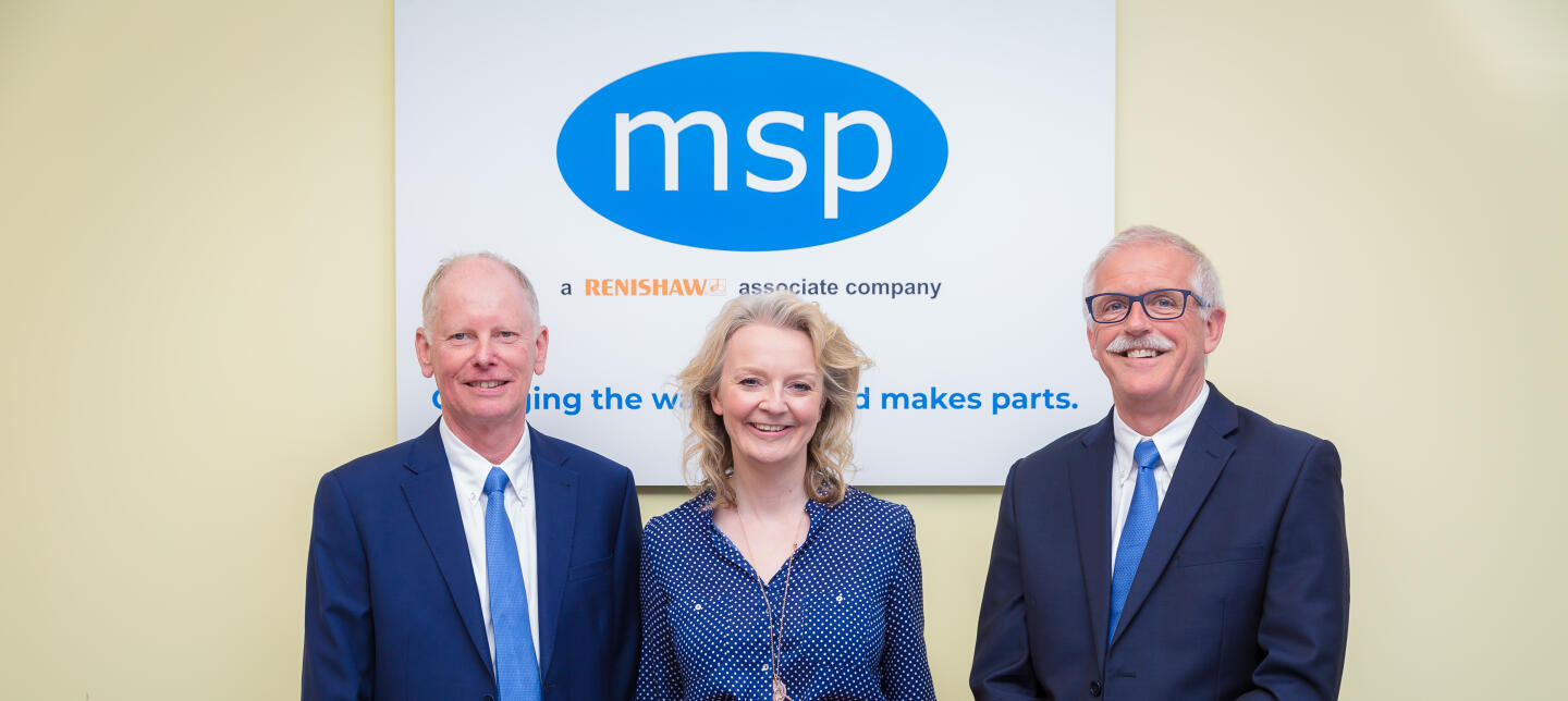 MSP founders Tony Brown (left) and Peter Hammond (right) with Chief Secretary to the Treasury, Liz Truss MP